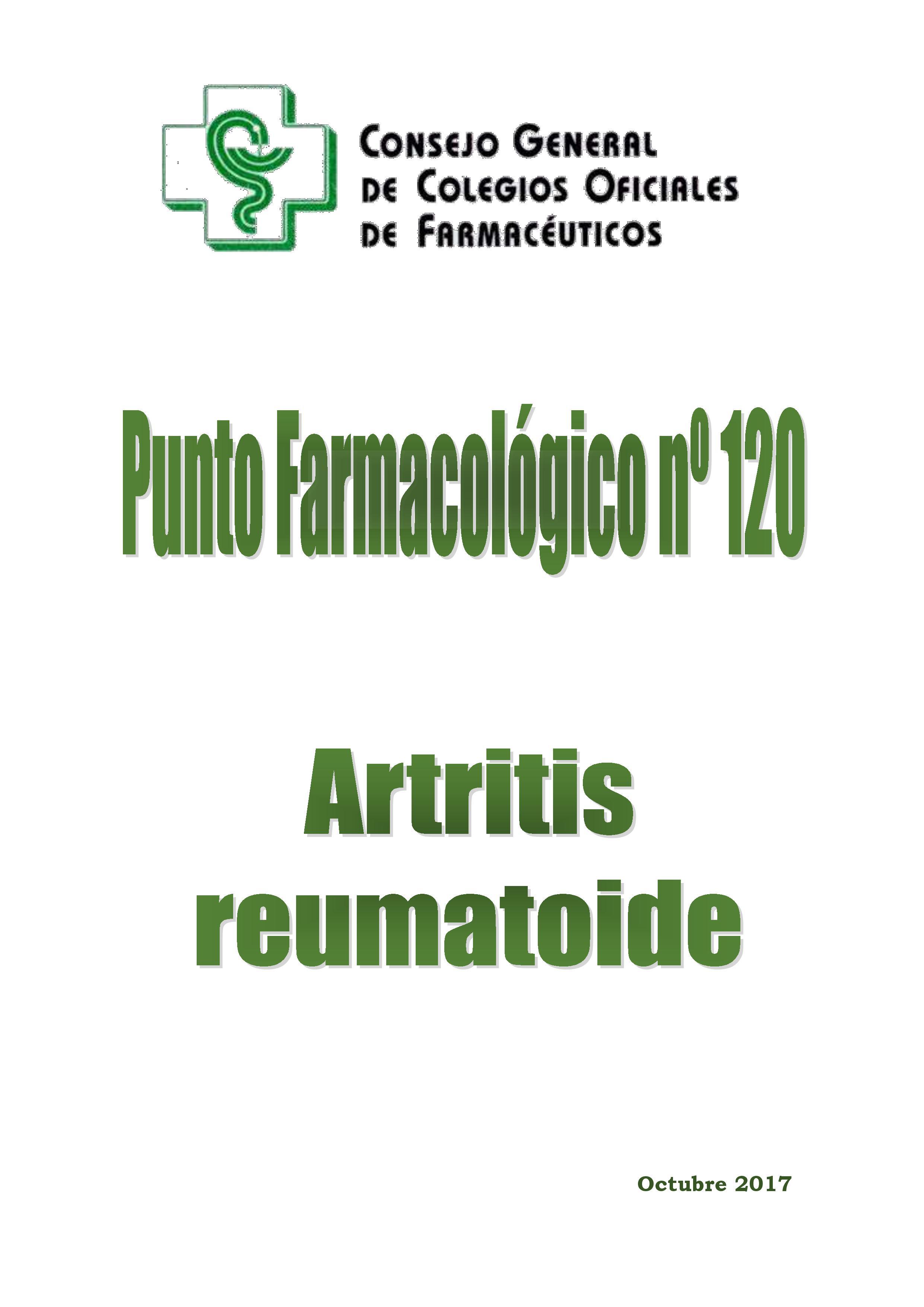 Artritis reumatoide – Punto Farmacológico Nº 120